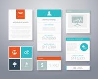 Flache ui Geschäfts-Elementschablone Lizenzfreies Stockfoto