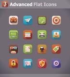 Flache UI Ikonen des Vektors Lizenzfreies Stockfoto