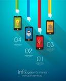 Flache UI-Konzepte des Entwurfes für einzigartiges infographics Lizenzfreies Stockbild
