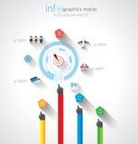 Flache UI-Konzepte des Entwurfes f?r einzigartiges infographics Lizenzfreie Stockfotografie