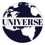 Flache Vektorillustration des Universums Stockfoto