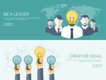 Flache Vektorillustration Seien Sie ein Führer Erzeugende Ideen Kreativität und Teamwork stock abbildung