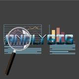 Flache Vektorillustration von Netzanalytikinformationen und von Entwicklungswebsitestatistik Stockfotografie