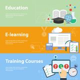 Flache Vektorkonzepte für Bildung Stockfotos