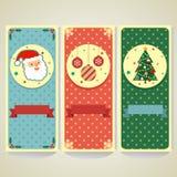 Flache Weihnachtsfahne Stockfotografie