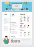 Flache Zusammenfassung mit Infographics Lizenzfreie Stockfotografie