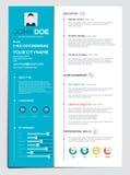 Flache Zusammenfassung mit Infographics Lizenzfreies Stockfoto