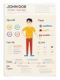 Flache Zusammenfassung mit Infographics Lizenzfreie Stockfotos
