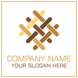 Flacher Art-Vektor Logo Parquet/Laminat für Flooring Company lizenzfreie abbildung
