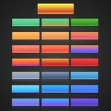 Flacher Benutzerschnittstellenvektor eingestellt für Website Stockbild