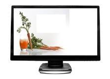 Flacher Bildschirm Fernsehapparat Lizenzfreies Stockfoto