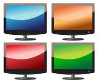 Flacher Bildschirm Fernsehapparat stockfotografie