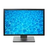 Flacher Bildschirm HDTV-Fernsehapparat Lizenzfreie Stockfotos