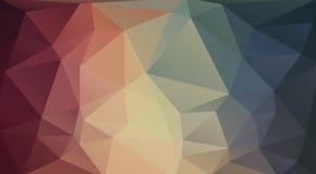 Flacher 2D Dreieckhintergrund Lizenzfreies Stockfoto