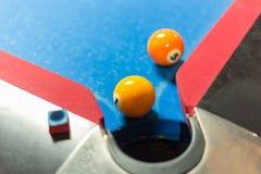 Flacher DOF auf dem weißen Ball Lizenzfreies Stockfoto