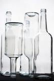 Flacher DOF, Fokus auf zentralen Flaschen lizenzfreie stockfotografie