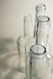 Flacher DOF, Fokus auf zentralen Flaschen lizenzfreie stockbilder