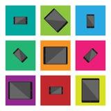 Flacher Entwurfsvektor des modernen Technologiegerätes, der unbedeutende Art zeichnet lizenzfreie abbildung