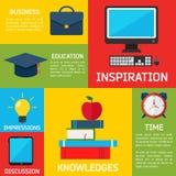 Flacher Geschäft Infographic-Hintergrund Lizenzfreie Stockbilder