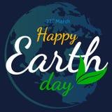 Flacher grafischer Hintergrund des glücklichen Tag der Erde-Vektors lizenzfreie abbildung