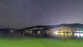 Flacher Hauptsee nachts stockfotografie