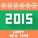 Flacher Hintergrund des neuen Jahres vektor abbildung