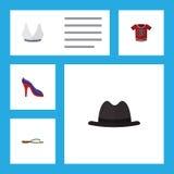 Flacher Ikonen-Kleidersatz des T-Shirts Lizenzfreies Stockfoto