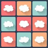 Flacher Ikonensatz der Wolke Stockbilder