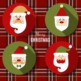 Flacher Ikonensatz Weihnachten Stockfoto