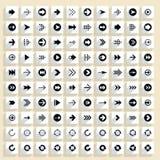 Flacher Pfeilikonenquadrat-Netzknopf lizenzfreie abbildung