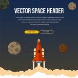 Flacher Raketentitel-Hintergrund Lizenzfreie Stockbilder