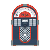 Flacher Retro- Musikautomat Stockfoto