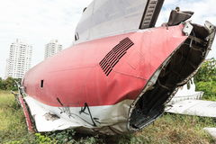 Flacher Rumpfschiffbruch, der aus den Grund sitzt Lizenzfreie Stockfotografie