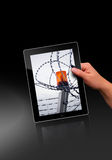 Flacher Tablette-PC Stockfotos