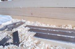 Flachere Messer hergestellt in Höhenflossenstations- und Chromstahl Präzisionswerkzeuge für Holzbearbeitungsindustrie lizenzfreies stockfoto