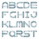 Flaches Alphabet des Vektors in der Bausatzart lizenzfreie abbildung