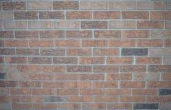 Flaches Bild einer Backsteinmauer Stockbilder