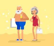 Flaches Charakterdesign des kühlen Vektors auf Senior Lizenzfreies Stockfoto