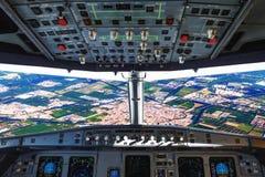 Flaches Cockpit lizenzfreie stockfotos