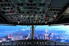 Flaches Cockpit stockfotos