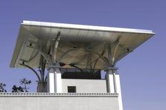Flaches Dach des Edelstahls Stockbild