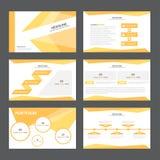 Flaches Design abstrakter orange Darstellungsschablone Infographic-Elemente stellte für Marketing der Broschürenflieger-Broschüre Lizenzfreies Stockfoto