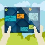 Flaches Design, Broschüren-Schablone Lizenzfreies Stockbild