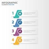 Flaches Design der bunten Infographic-Elementdarstellungs-Schablonen stellte für Marketing der Broschürenflieger-Broschüre ein Lizenzfreie Stockfotografie