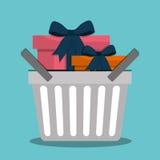 Flaches Design der Einkaufsikone, Vektorillustration Lizenzfreies Stockfoto