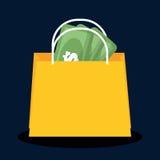 Flaches Design der Einkaufsikone, Vektorillustration Stockbild