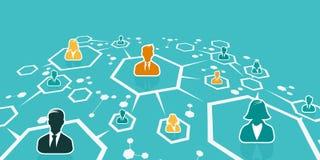 Flaches Design der Geschäftsnetzkonzept-Illustration Stockbild