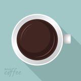 Flaches Design der Kaffeetasse Lizenzfreies Stockbild