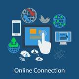 Flaches Design der Kommunikation Lizenzfreies Stockfoto