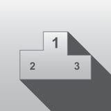 Flaches Design des Podiums Lizenzfreie Stockfotos